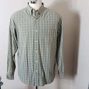 J. Crew Olive Green Plaid Button Down Shirt Sz M